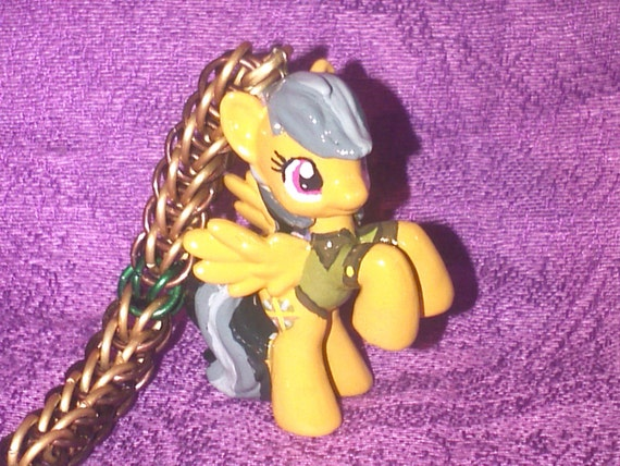 Custom Daring Do My Little Pony Friendship is Magic chainmaille keychain