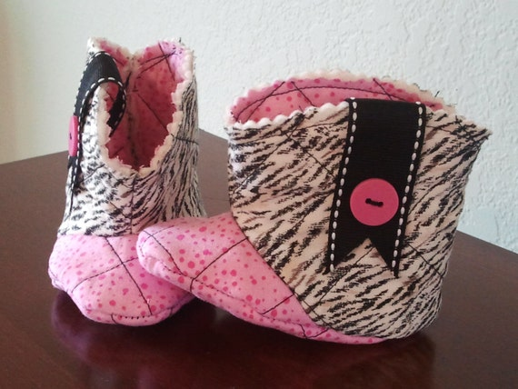 Zebra Baby Cowgirl Boots