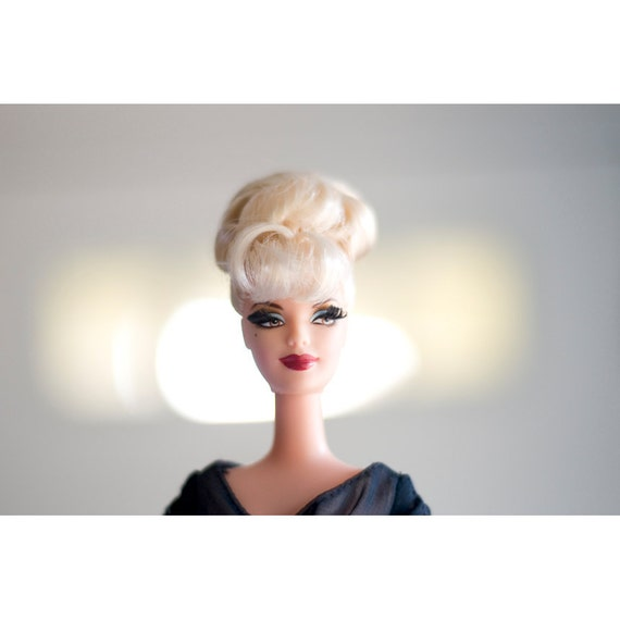 Barbie Photo - In Front of the Lights - Fine Art Photograph - Fashion Print - Barbie Doll Photo - Dramatic Doll Photo - Retro Doll Print