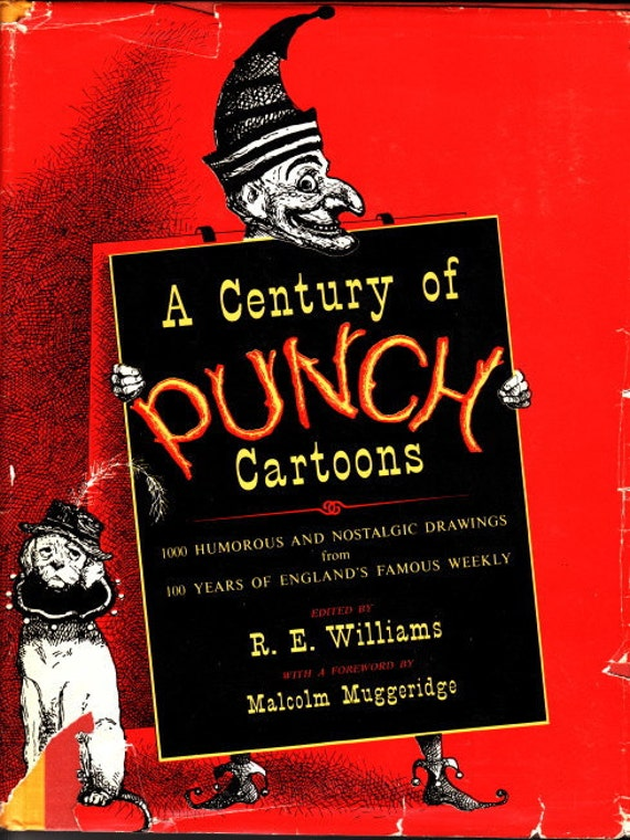 A Century of Punch Cartoons, First Edition with DJ