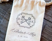 Custom Canvas Wedding Favor or Welcome Bags Set of 25