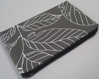 Kindle Case, for Kindle 3, Kindle Touch, Kindle Fire. Padded Cotton Cover, leaf.