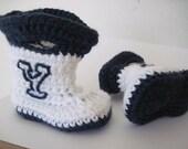 Crochet BYU Baby Rain Boots