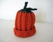 Crochet Baby Pumpkin Hat