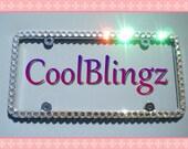 HUGE CRYSTAL Bling Diamond Rhinestone License Plate Frame made w/ Swarovski Elements