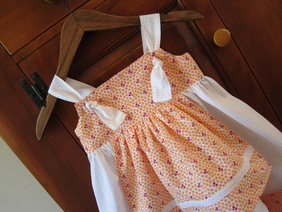 Knot Apron Dress 4T Toddler Ready To Ship Vintage Inspired Sundress