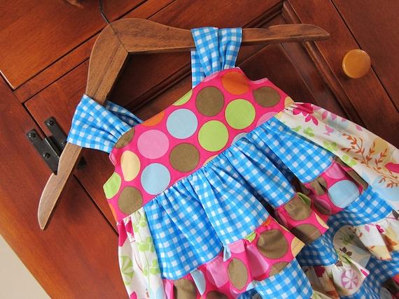 Reverse Knot Dress Ruffles 2T Ready To Ship Child Toddler Sundress EmmaJane