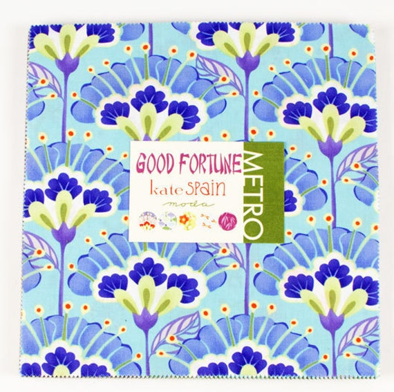 """Moda Layer Cake Kate Spain, GOOD FORTUNE 10"""" Quilt Fabric Square"""