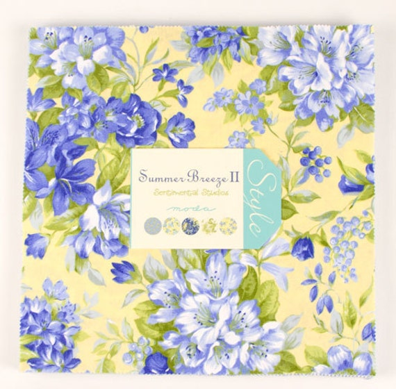 "Moda Layer Cake SUMMER BREEZE II 10"" Quilt Fabric Square"