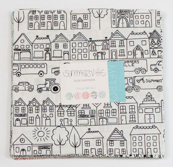 """Moda Layer Cake SUMMERSVILLE By Lucie Summers 10"""" Quilt Fabric Square"""