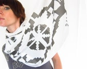 Indigenous Black and White Camboya Scarf