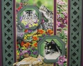 Fabric Panel Cat Nap Springs Creative sewing craft quilt decor