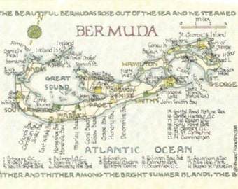 Bermuda Map - Two Sizes