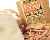 Cedar & Salt Shoe Bags for Boots and Shoes Odor Removing and Eliminating Bags for Overnight Use