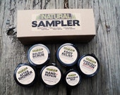 SAMpler Kit Gifts for Dad Men Gift with Walnut Scrub Soap After Shower Everyday Lotion Knuckle Wax Hand Lotion
