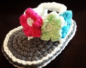 Handmade Crochet Baby Sandals for Newborn to 12 months