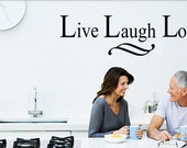 Vinyl Wall Decal from Signature Decals: Live, Laugh, Love