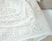 ivory floral lace tablecloth