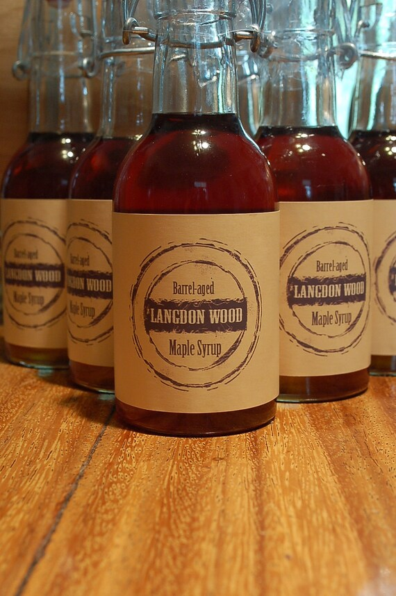 SIX PACK of Small Bottles -  Barrel Aged Maple Syrup