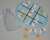 Heavenly Angels and Golden Stars Tic-Tac-Toe Board and Game Pieces