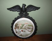 Currier & Ives The Homestead In Winter Wall Hanging/Trivet