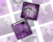 Mixed 1 Inch Square Images in Violet