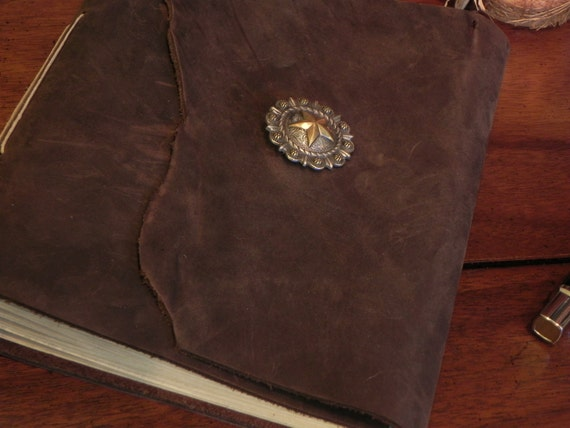 Handmade Leather Chocolate Brown Southwestern Journal