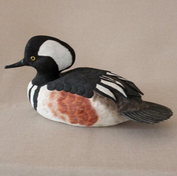 Duck Carving - Hooded Merganser - Drake