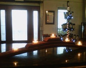 Sale-Wine Shrine (wine barrel stave tea light candle / wine bottle holder)