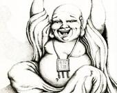 Hotei the Laughing Buddha 5x7 Fine Art Print