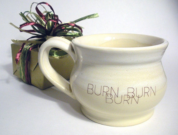 Burn Burn Burn Mug (Left-Handed)