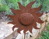 Metal Garden Sun, Yard Art