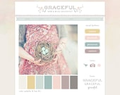 SALE 50% off - Web & Blog Kit - design elements to decorate your creative or photography blog