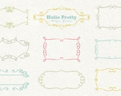 Hello Pretty Designer Frames - commercial use ok - templates for photographers - INSTANT DOWNLOAD