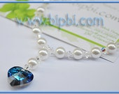 Beautiful necklace with blue heart