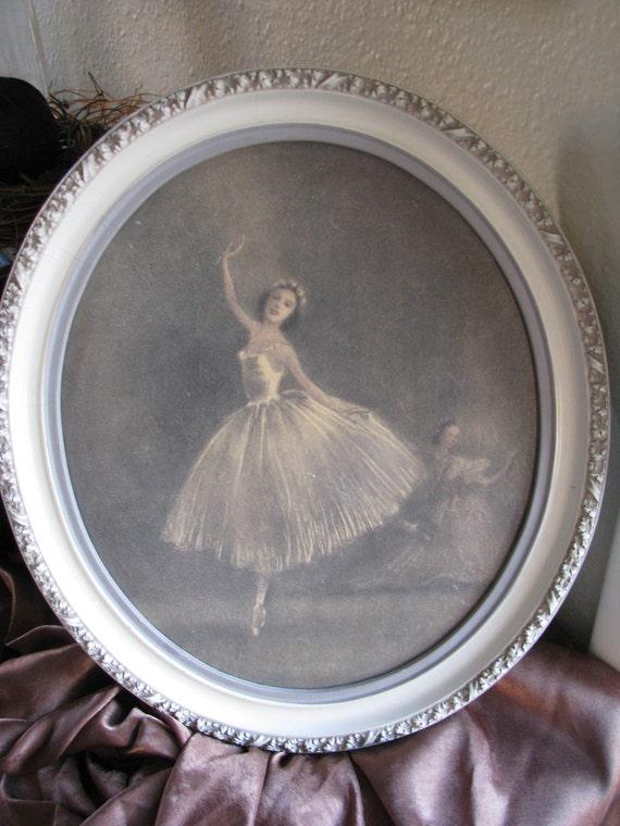 Vintage sophie ballerina print painting