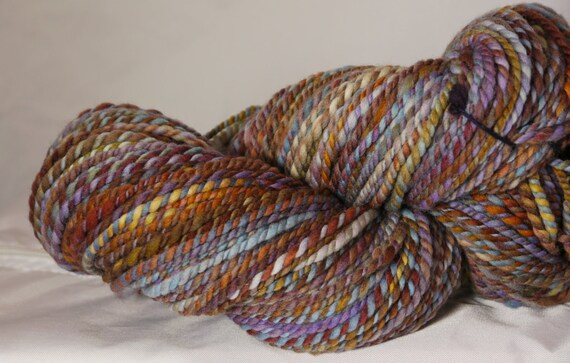 Handspun art yarn -  Western Prairie ( 200 yds) merino