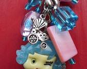 Beaded keychain for Diaper Bag, Stroller, for little Baby Girl.