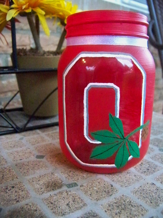 items similar to hanpainted ohio state candle holder candy