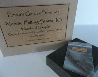Needle Felting Starter Kit - Woodland Colors
