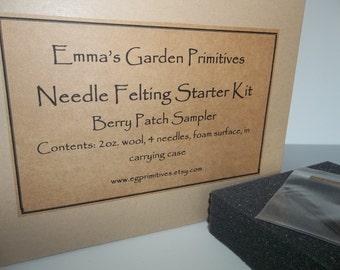 Needle Felting Starter Kit - Berry Patch Colors