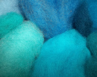 Needle Felting Wool- Seaside Wool Sampler-Wet Felting Wool