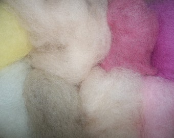 Needle Felting Wool- Bakery Wool Sampler-Wet Felting Wool