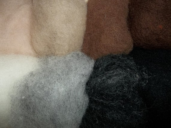 Needle Felting Wool- Photo Shop Wool Sampler-Wet Felting Wool