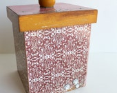 Boho Altered Wood Box, Trinket Box ,Jewelry Box, Stash Box, Home Decor, Moroccan Box