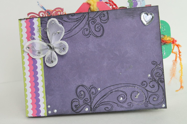 Handmade Book Cover Ideas : One of a kind handmade scrapbook album photo