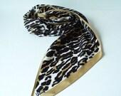 vintage vera scarf animal print
