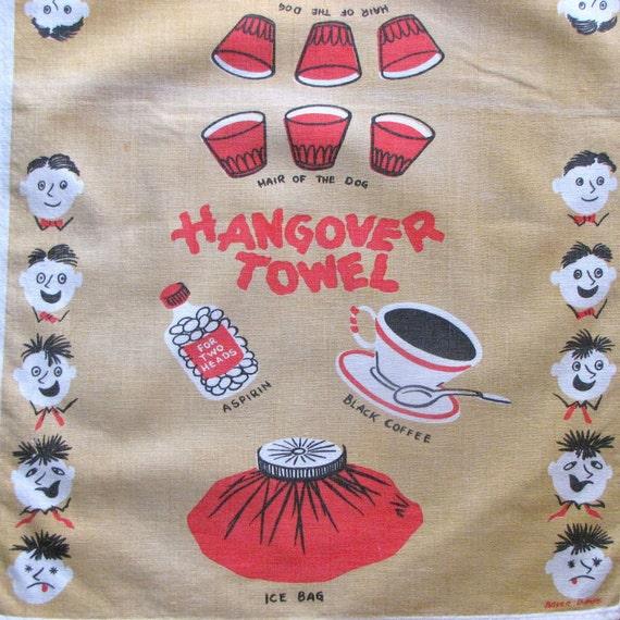 Vintage Linen Hangover Dish Bar Towel Simtex Great Graphics