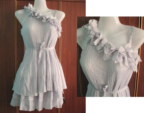 Chiffon Party Dress -  Romance One Shoulder Cocktail Dress
