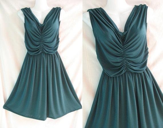 Lovely Girl Party Dress - Sexy Deep V Green Dress - Sweet Night Cocktail Dress